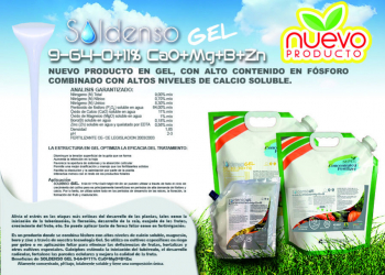 SOLDENSO GEL 9-64-0-11%CaO+Mg+B+Zn